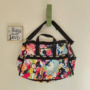 Lesportsac 💜 Floral Weekender Duffle Bag Travel